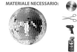 Decorazioni fai da te: una palla stroboscopica per la tua festa di Capodanno