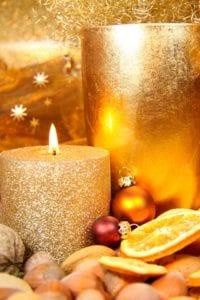 Come fare una candela glitter